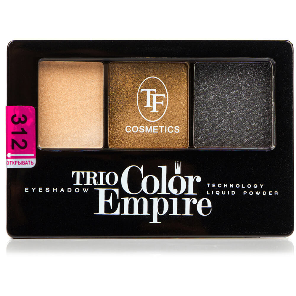 "Тени для век ""Trio Color Empire"" ТЕ-22-312C тон 312 золотой смоки"