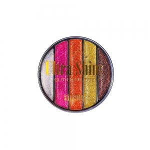 "Тени д/век ""Glitter"" 6748 Ultra Shiny тон 03 круглые 5-цв."