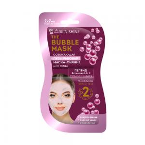 The Bubble Mask Маска-сияние д/лица Пузырьковая освежающая, саше (2х7мл)