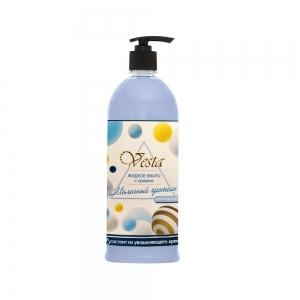 Жидкое мыло Веста Молочный протеин с дозатором, 1л