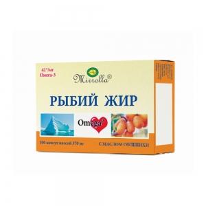 Рыбий жир с маслом облепихи №100, 0,37г пенал