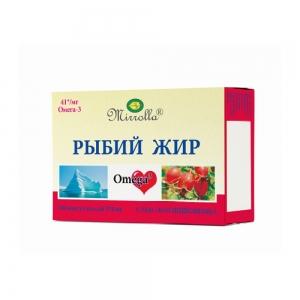 Рыбий жир с маслом шиповника №100, 0,37г пенал