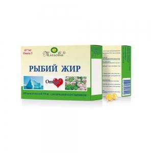 Рыбий жир с валерианой и пустырником №100, 0,37г