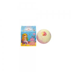 Соль для ванн Бурлящий шар для девочек с игрушкой, 130г кар/п (1шт)