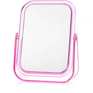 Зеркало квадратное настольное 17х13,8см в пластиковой оправе