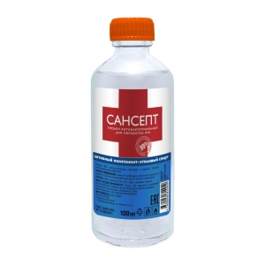 Лосьон антибактериальный для обработки рук Сансепт, 100мл стекло