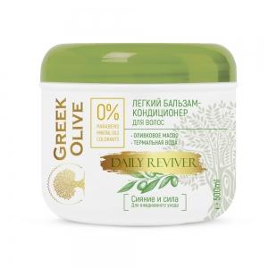 """Greek Olive Бальзам-кондиционер для волос Легкий """"сияние и сила"""", термальная вода, 500мл"""