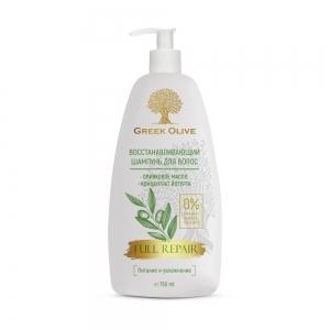 """Greek Olive Шампунь для волос Восстанавливающий """"питание и увлажнение"""", 750мл"""