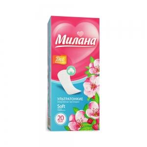 Прокладки гигиенические на каждый день Ультра софт део Весенние цветы (20шт)