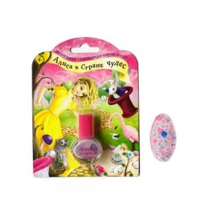 """Лак для ногтей Алиса в Стране Чудес """"Волшебное приключение"""" с блестками, 5мл"""