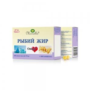 Рыбий жир с витамином Е №100, 0,37г