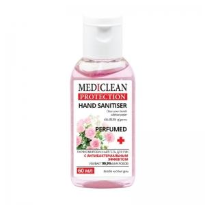 Гель для ухода за кожей рук Mediclean Protection Perfumed с антибактериальным эффектом, 60мл