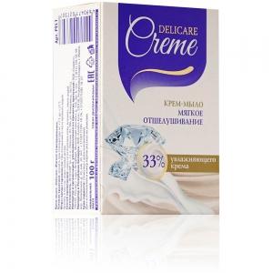 """Крем-мыло туалетное Delicare Creamy """"Мягкое отшелушивание"""", 100г"""