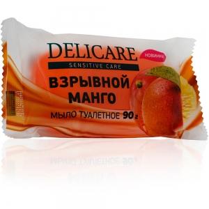"""Мыло туалетное глицериновое  Delicare """"Взрывной манго"""", 90г"""