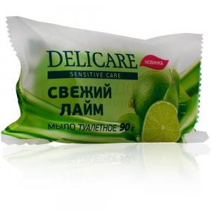 """Мыло туалетное глицериновое  Delicare """"Свежий лайм"""", 90г"""