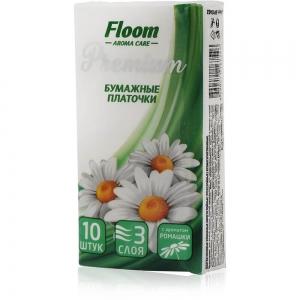 Платочки бумажные Floom Ромашка 3-слойные (10шт)
