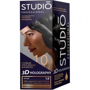 Стойкая краска для волос Чёрный 1.0