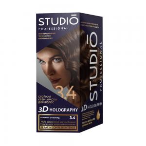 Стойкая краска для волос Горький шоколад 3.4