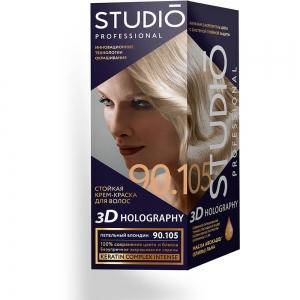 Стойкая краска для волос Пепельный блондин 90.105