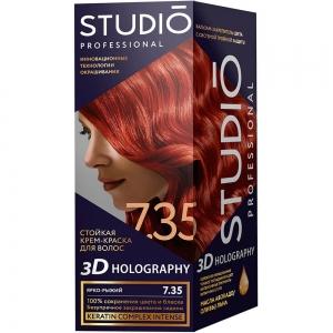 Стойкая краска для волос Ярко-рыжий 7.35