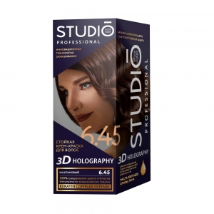 Стойкая краска для волос Каштановый 6.45