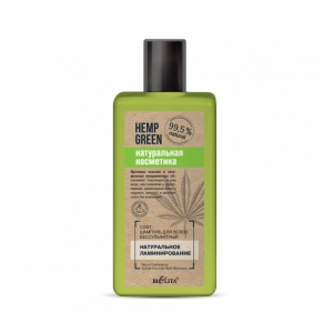"""Софт-шампунь для волос """"Натур.ламинир"""" Hemp green бессульф, 255мл"""