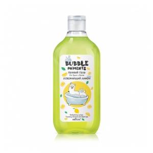 """Гель для душа и ванны Bubble moments """"Освежающий лимон"""" пенный, 300мл"""