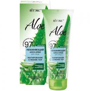 """Aloe 97%  Алоэ-крем увлажняющий для лица """"Матирование. Сужение пор"""", 50мл"""