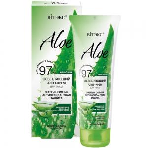 """Aloe 97%  Алоэ-крем осветляющий для лица """"Энергия сияния. Антиоксидантная защита"""", 50мл"""