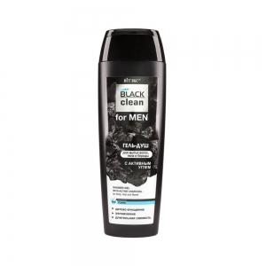 Гель-душ для волос, тела и бороды BLACK clean for MEN с активным улем, 400мл
