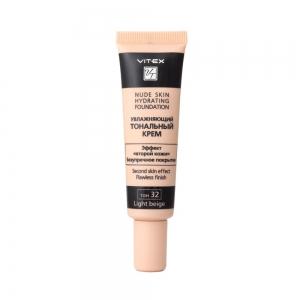 Увлажняющий тональный крем для лица Vitex Nude Skin Hydrating Foundation тон 32 Light bei, 30мл