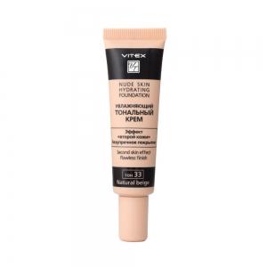 Увлажняющий тональный крем для лица Vitex Nude Skin Hydrating Foundation тон 33 Natural, 30мл