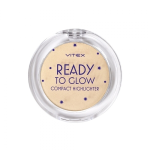 Хайлайтер для лица Vitex Ready To Glow тон 203 Golden glow для смуглой кожи