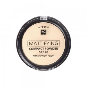 Матирующая пудра для лица Vitex Mattifying compact powder SPF20 тон 01 Porcelain
