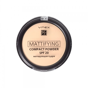 Матирующая пудра для лица Vitex Mattifying compact powder SPF20 тон 03 Soft beige