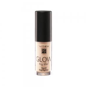 Жидкий хайлайтер для лица Vitex Glow My Skin тон 12 Rose, 4,9г