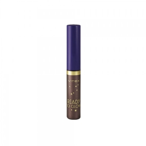 Подводка для глаз Vitex Ready To Color тон 84 Magnetic brown жидкая с блестками, 4,8мл