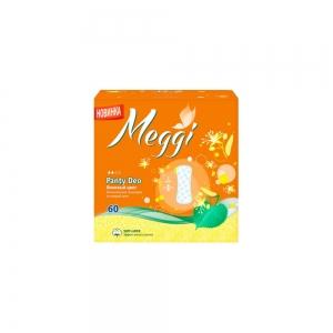 Прокладки гигиенические на каждый день Meggi Panty Deo - липовый цвет (60шт)