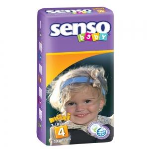 Подгузники для детей Senso Baby maxi (7-18кг) с кремом-бальзамом (40шт)