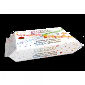 Салфетки влажные SENSO универсальные антибактериальные (100шт)