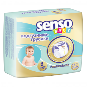 Подгузники-трусики Senso Baby junior (12-15кг) (24шт)