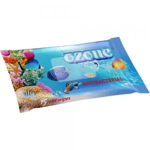 Салфетки влажные 15 шт аромат морской свежести Антибактериальные