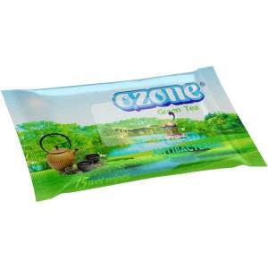 Салфетки влажные 15 шт аромат зеленого чая Антибактериальные