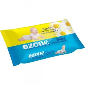 Салфетки влажные Детские 40 шт с экстрактом ромашки