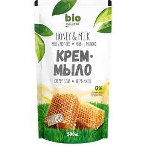 Жидкое крем-мыло Мёд с молоком запасная упаковка, 500мл