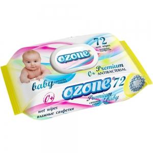 Салфетки влажные Детские 72 шт Premium с экстрактом ромашки, пластиковый клапан