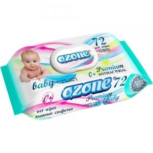 Салфетки влажные Детские 72 шт Premium с экстрактом календулы и вит.Е, пластиковый клапан