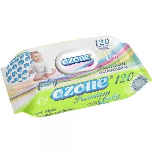 Салфетки влажные Детские 120 шт Premium экстракт алоэ АНТИБАКТЕРИАЛЬНЫЕ пластиковый клапан