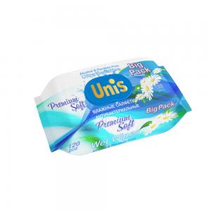 Салфетки влажные Универсальные 120 шт с клапаном АНТИБАКТЕРИАЛЬНЫЕ