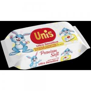 Салфетки влажные Для детей  72 шт без запаха АНТИБАКТЕРИАЛЬНЫЕ с клапаном